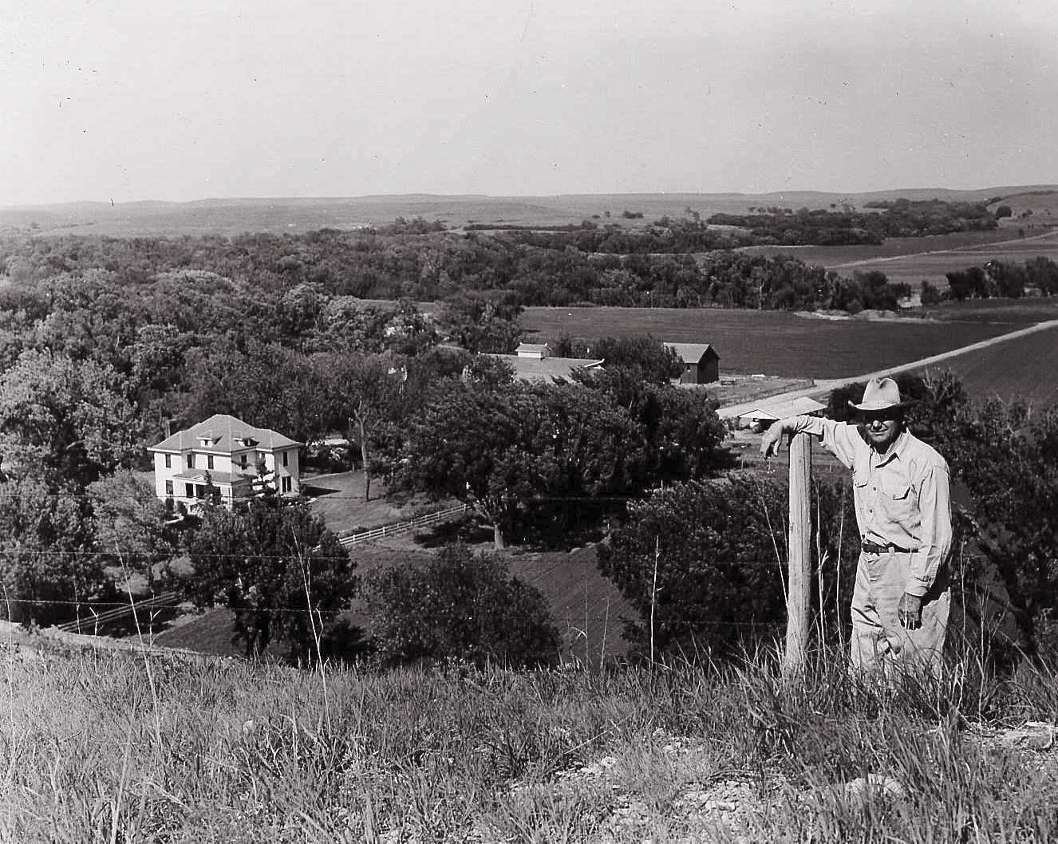 Henry Rogler on a high overlook above the ranch
